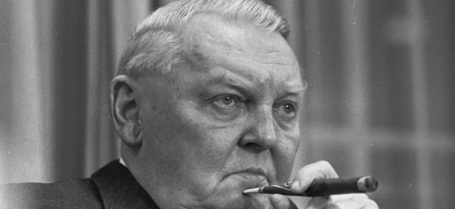 Ludwig Erhard, ministro dell'Economia tedesco della ricostruzione