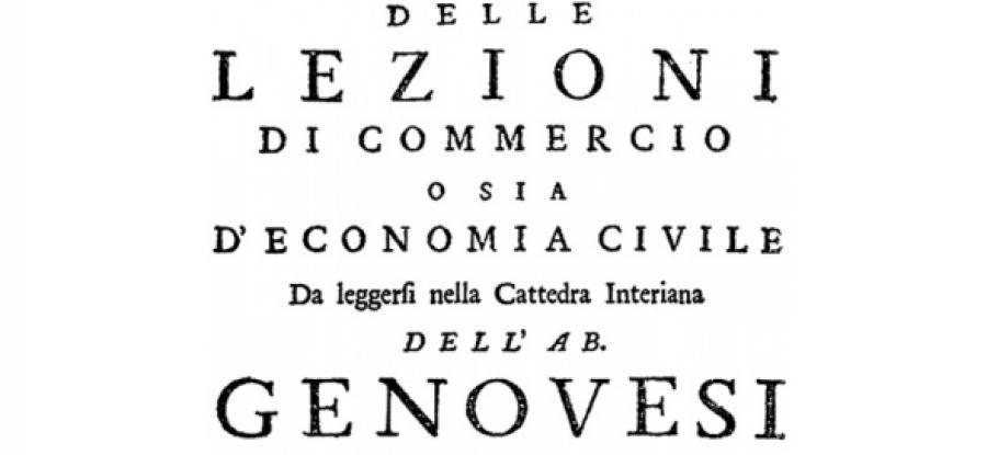 Lezioni di economia civile di Antonio Genovesi